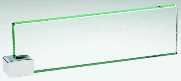 Executive Glass Name Plate G310C1
