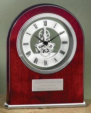 5172RC Rosewood Skeleton Clock