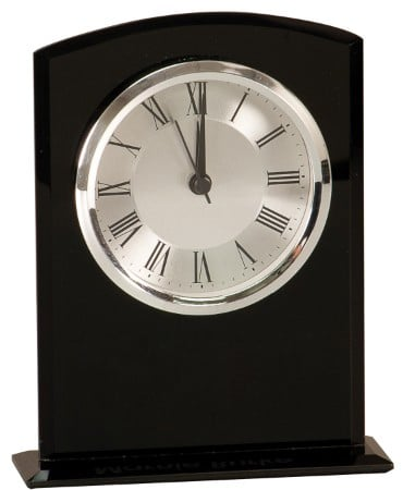 Black Glass Clock-3997
