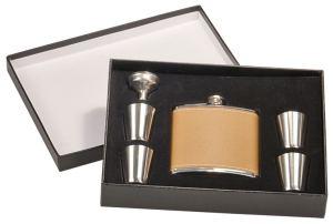 Leather Flask Set FSK655SET