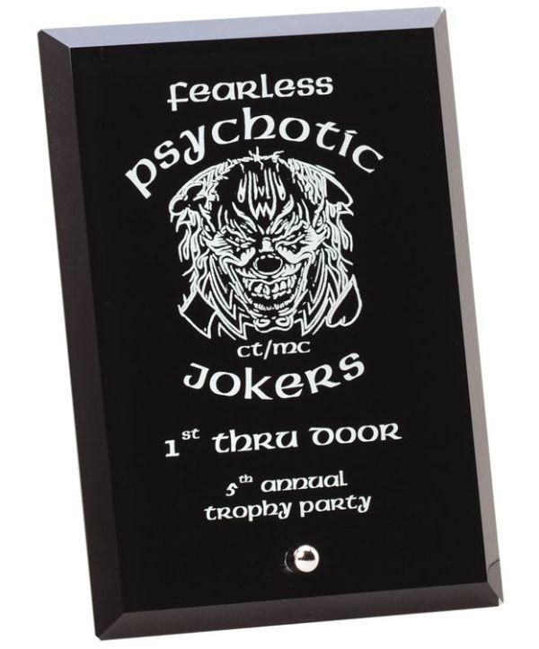 Black Glass Plaque
