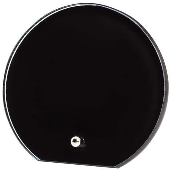 Black Glass Circle Award BK503-blank