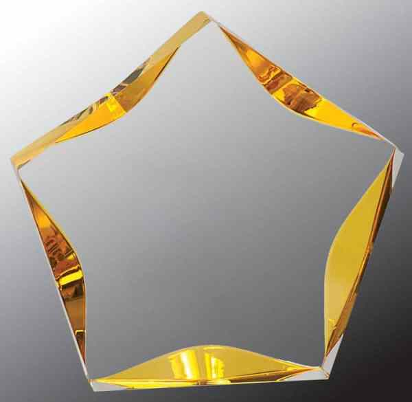 Gold Acrylic Star LST567GD-blank