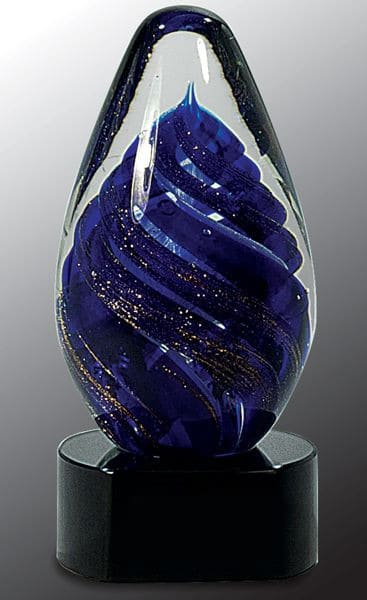 AGS17 Blue Swirl Glass Egg-blank