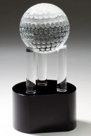 CRY337 Crystal Golf Ball Trophy