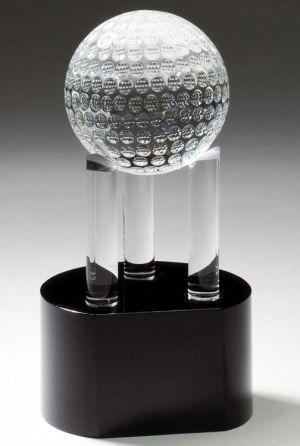 CRY337 Crystal Golf Ball Trophy