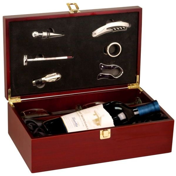 Wine Box Set with Tools & Glasses