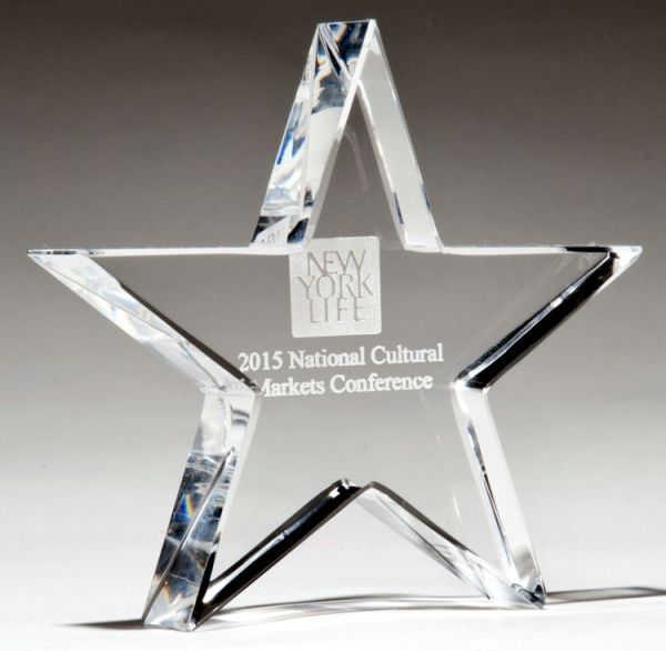 Crystal Star Paperweight K9251