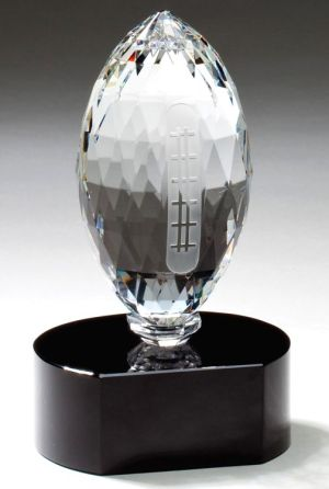 Crystal Football Trophy CRY341