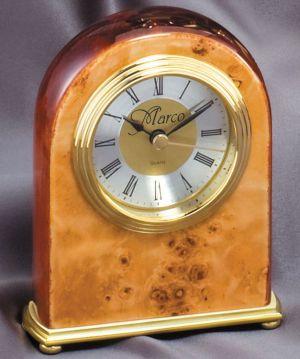 RWB28 Burlwood Desk Clock