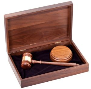 11G Walnut Gavel Set