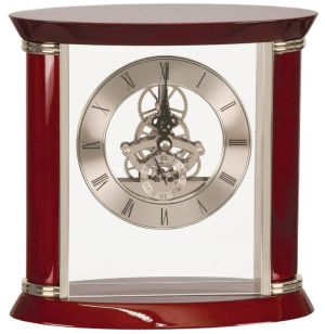 EX102 Silver Skeleton Clock
