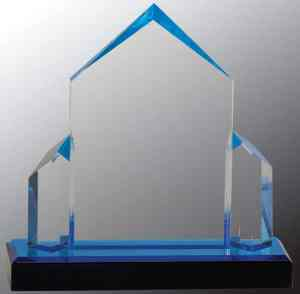 iMP135BU Blue Jewel Acrylic Award