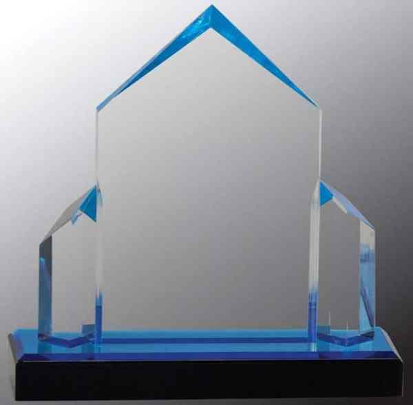 iMP135BU Blue Jewel Acrylic Award
