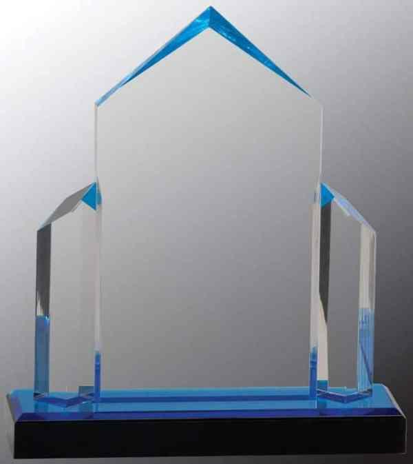 iMP136BU Blue Jewel Acrylic Award