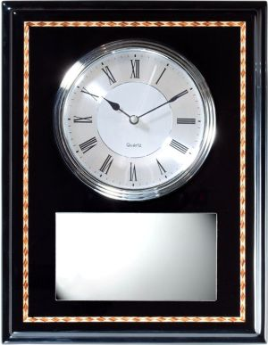 Black & Silver Wall Clock Q096