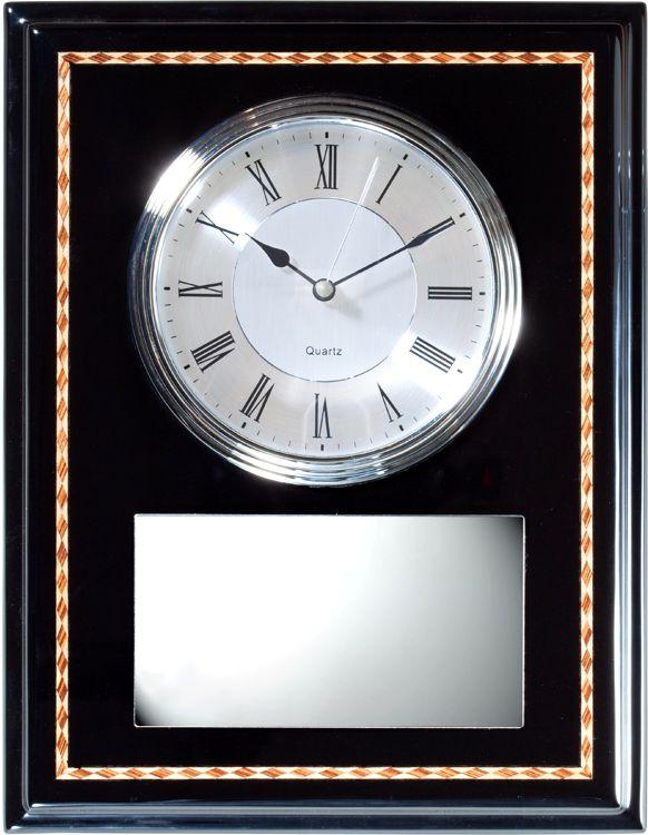 Black & Silver Wall Clock Q096
