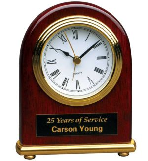 T001 Rosewood Desk Clock