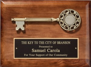 Key to the City Plaque PC530E