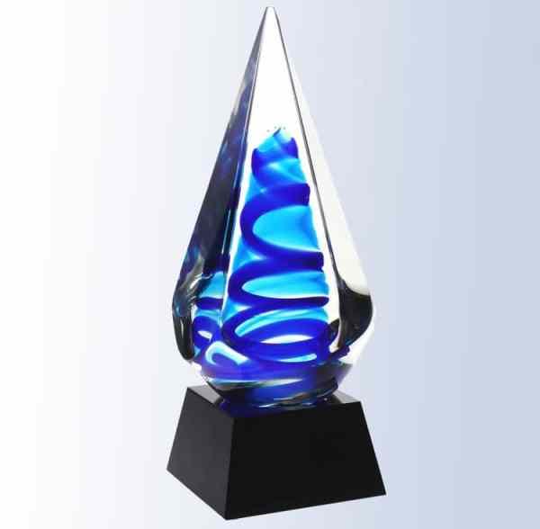 G1613 Blue Ocean Glass Art
