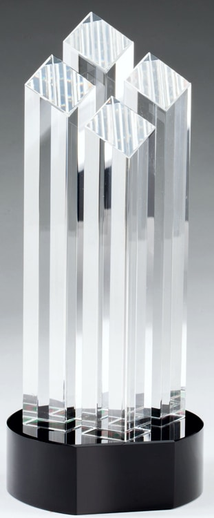 CRY490 Crystal Trophy
