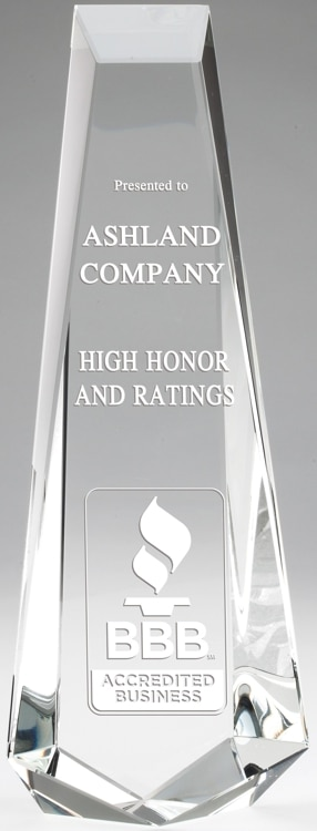 CRY574 Crystal Tower Trophy