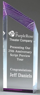 DT812P Purple Acrylic Award