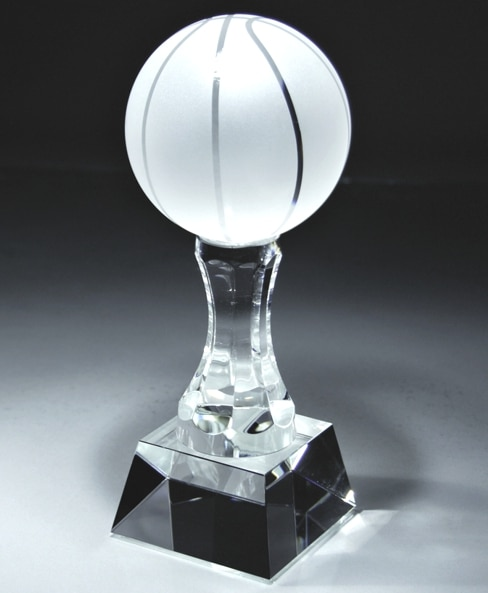 CRY148 Crystal Basketball Trophy