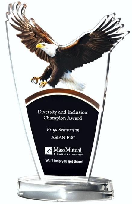 DT824B Landing Eagle Acrylic Award