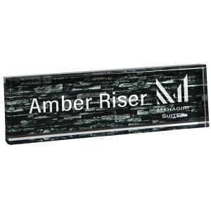 Gray Brick Acrylic Name Plate VLX838Y