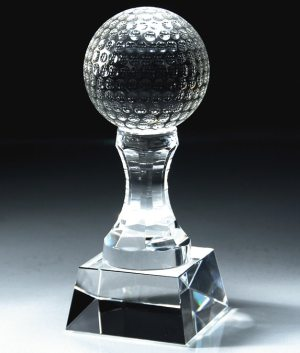 CRY150 CRY151 Crystal Golf Ball Trophy
