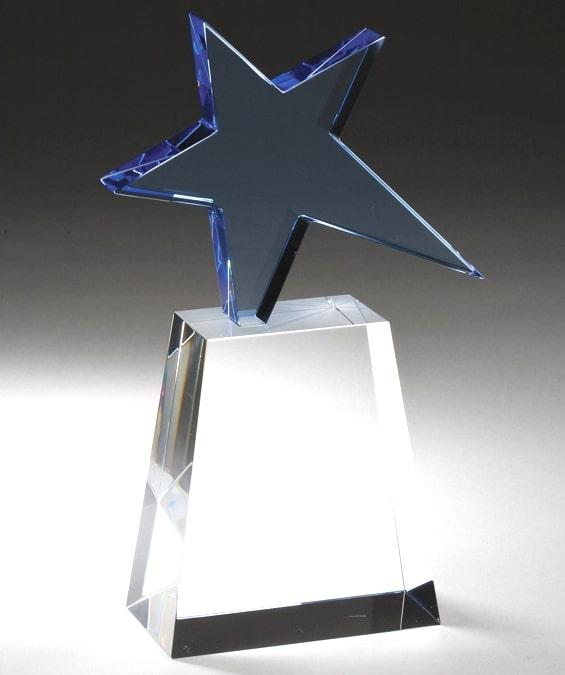 Blue Star Crystal Award CRY242