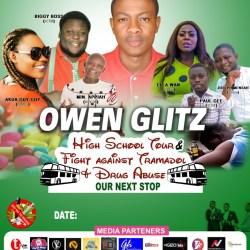 Owen Glitz High School Tour Against Tramadol And Drug Abuse