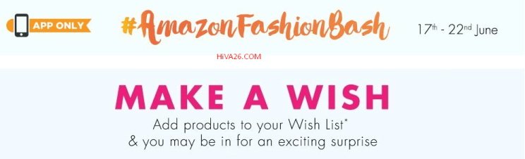 amazon fashion bash make a wish hiva26