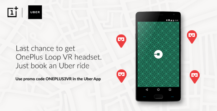 free oneplus loop vr headset with uber ride hiva26