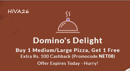 snapdeal domino's offer hiva26