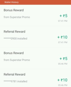 true caller app 15r per refer proof