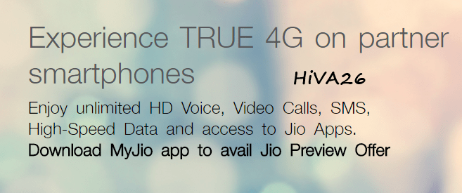 jio preview offer on partnered smartphones hiva26