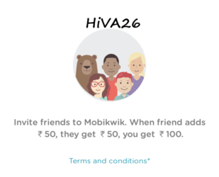 mobikwik trick with refer earn and add money hiva26