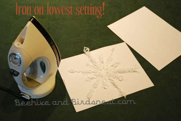 ironing snowflake