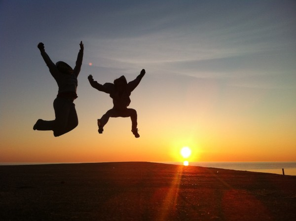 Sunrise jumping