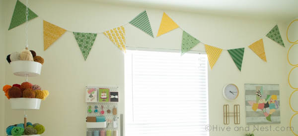 Pennant Bunting yellow green