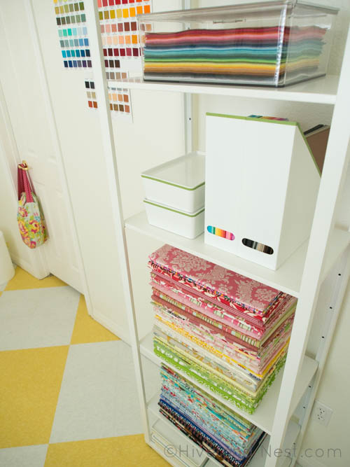 Fabric storage shelves