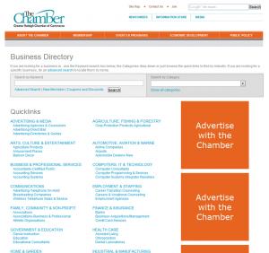 Raleigh Chamber of Commerce member directory screenshot
