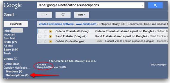 Gmail label inbox
