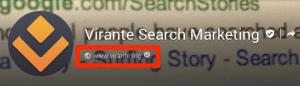 Google Plus Page verification checkmark
