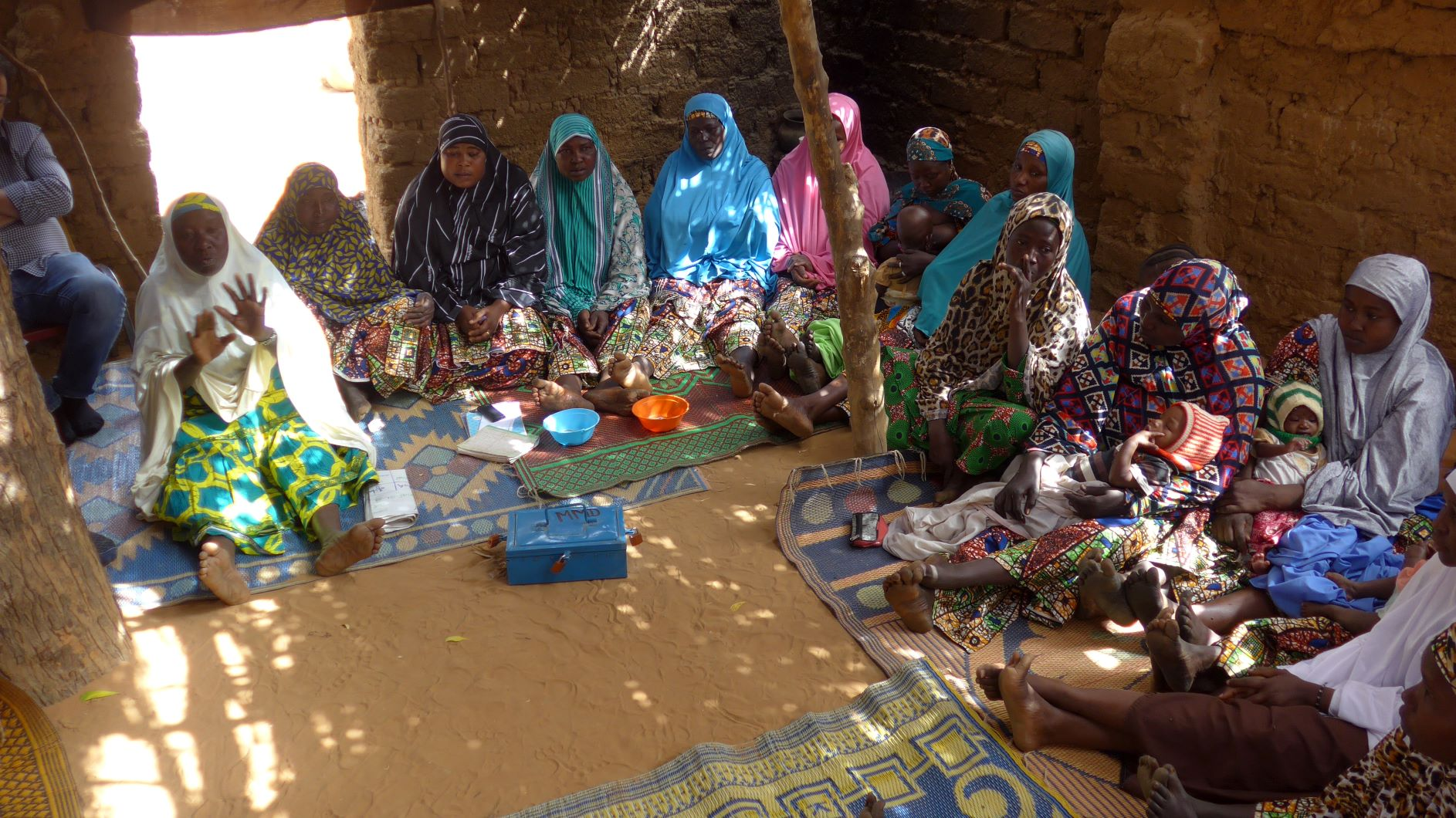 Niger village women meeting