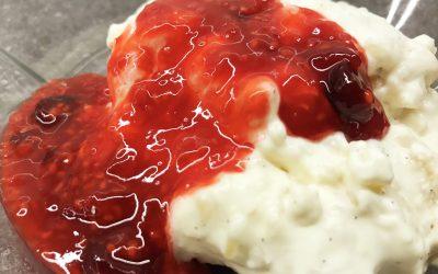 Ris á l'amande med bærsauce