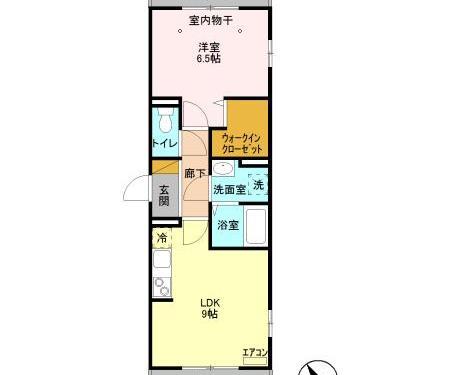 トリプルR201 ☆全戸角部屋で明るい室内☆インターネット無料です☆