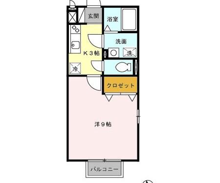 広々9帖のお部屋!!(間取)